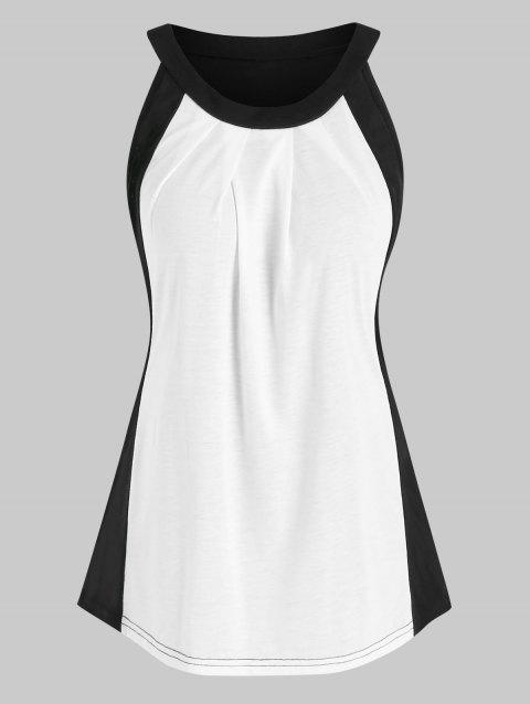Ruched Two Tone Tank Top