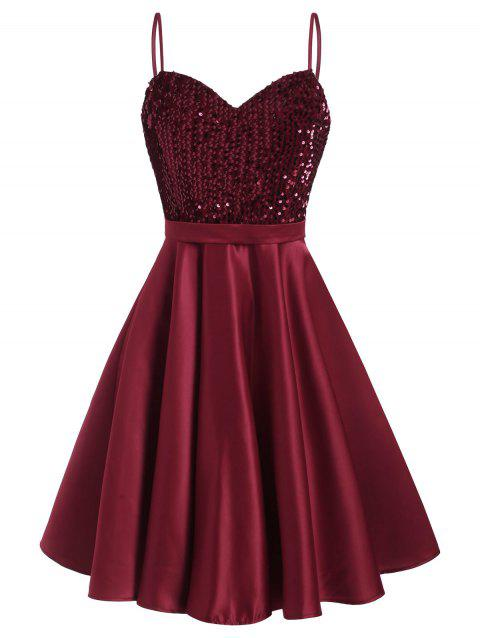Sparkly Sequined A Line Party Dress