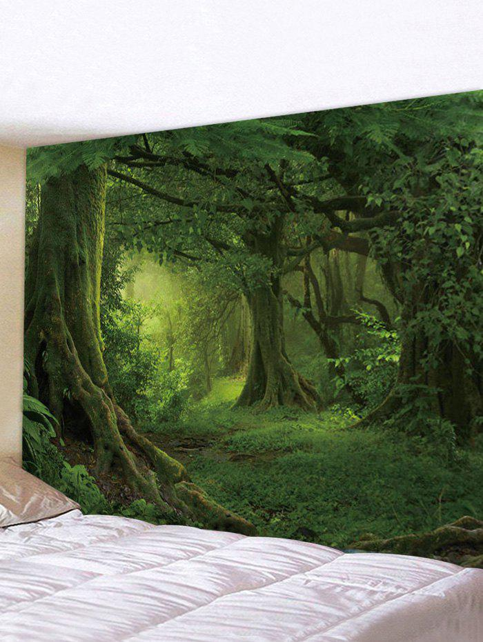Forest 3D Print Waterproof Tapestry - multicolor I W91 X L71 INCH
