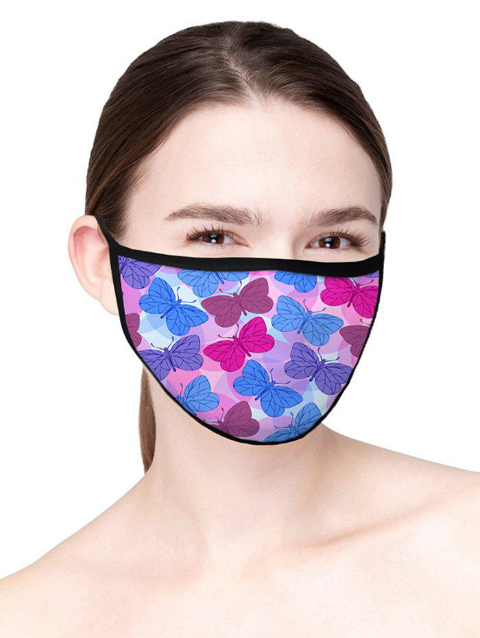 Printed Butterfly Air Layer Fabric Face Mask - PINK CUPCAKE 20*15CM