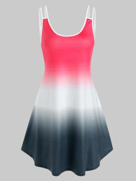 Ombre Color Sleeveless Tent Dress