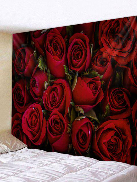 Rose Flower 3D Printed Home Wall Tapestry