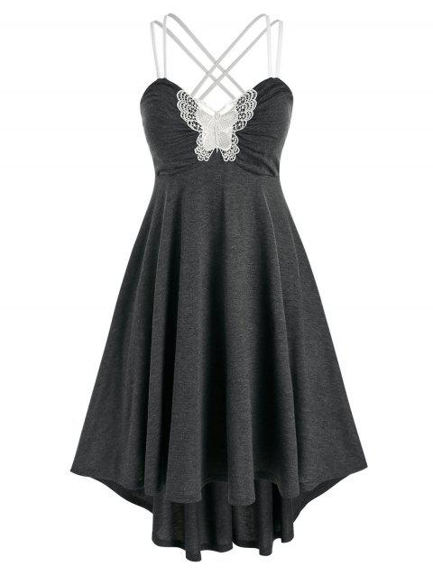 Plus Size High Low Lace Butterfly Night Dress