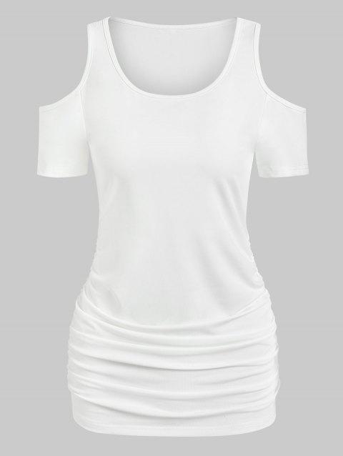 Cold Shoulder Ruched Tunic T Shirt