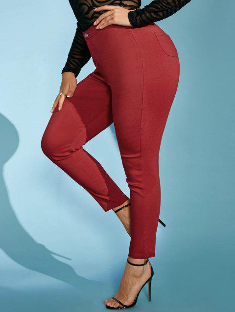 Colored High Waisted Plus Size Skinny Pants