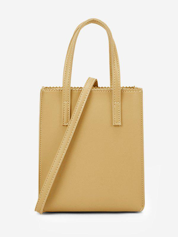 Sac Fourre-tout Rectangle Ourlet Zigzag - Verge d'Or