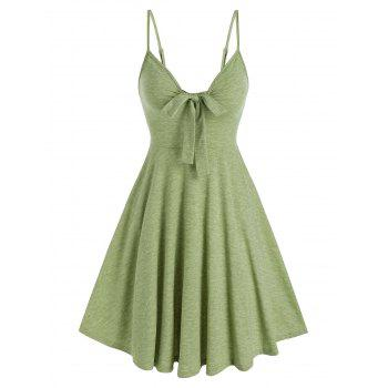 Casual Front Bowknot Flare SLIP DRESS