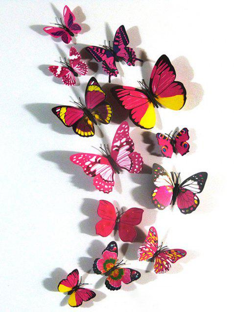 12Pcs 3D Butterfly Magnetic Refrigerator Stickers Set