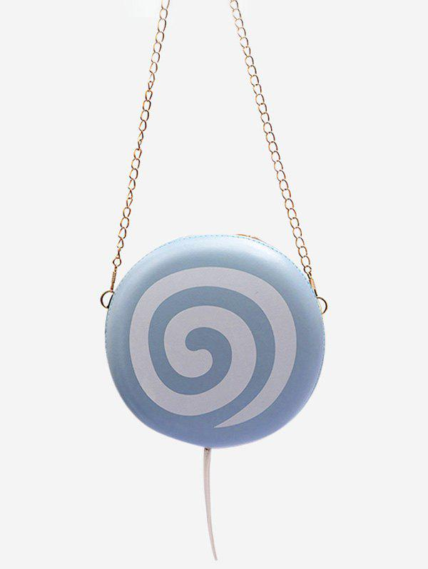 Lollipop Shape Chain Mini Crossbody Bag - BLUE GRAY