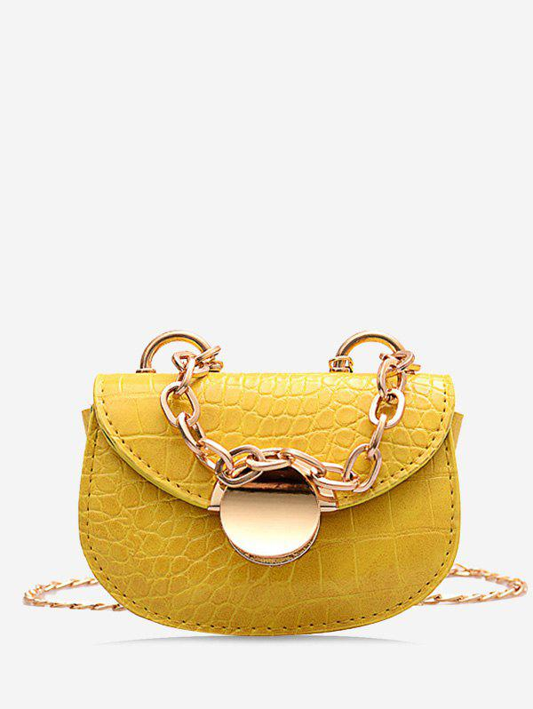 Chain Round Metal Mini Saddle Bag - BEE YELLOW