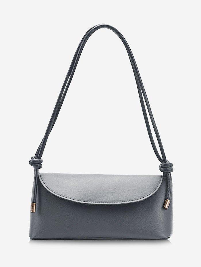 Brief Cover Knotted Strap Shoulder Bag - SMOKEY GRAY