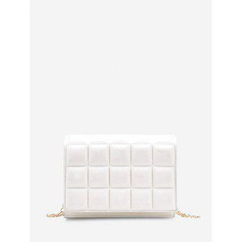 Soft Chocolate-Quilted Flap Chain Crossbody Bag - MILK WHITE