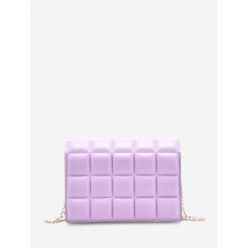 Soft Chocolate-Quilted Flap Chain Crossbody Bag - MAUVE