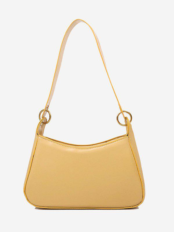 Minimalist O Ring Solid Shoulder Bag - BEE YELLOW