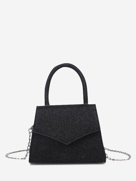 Envelope Chain Cover Handbag - BLACK