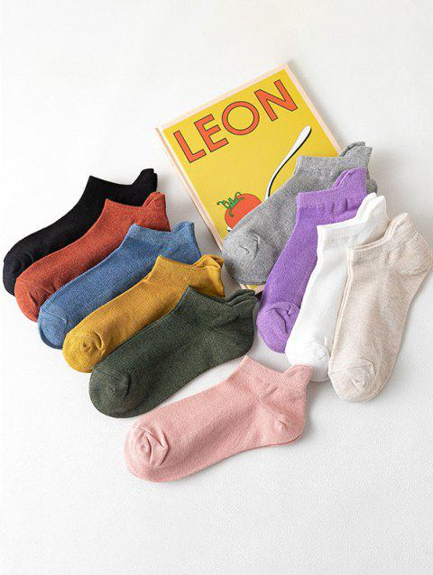 10 Pairs Breathable Anti-Chafe Ankle Socks Set