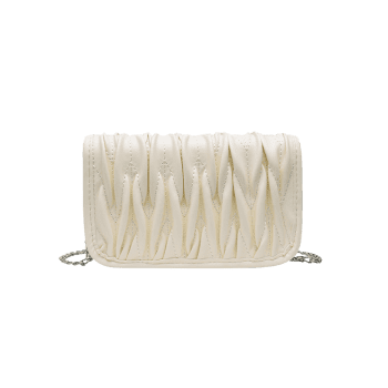 Pleated Chain Cover Crossbody Bag