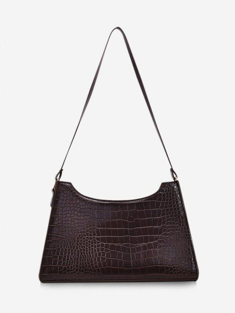 Retro Textured Trapezoid Shoulder Bag