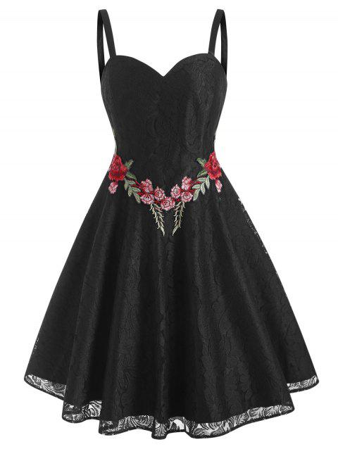 Lace Flower Applique Cami Party Dress