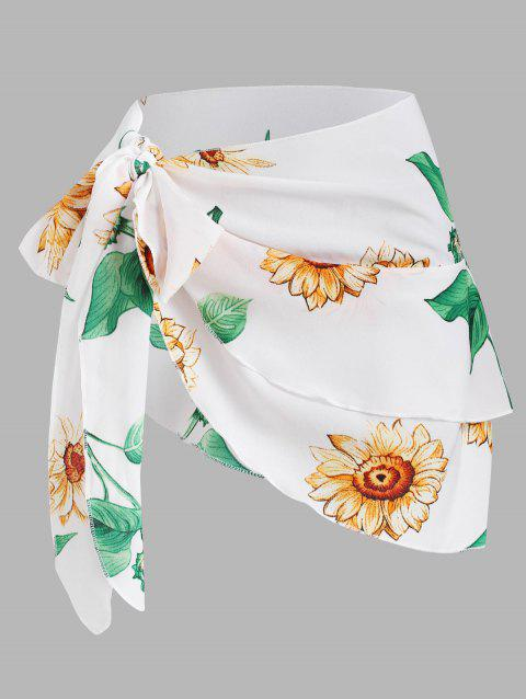Multiway Sunflower Tied Layered Cover Up