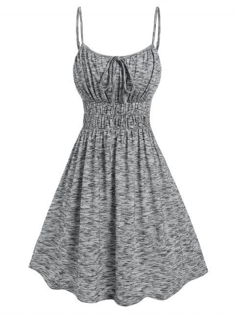 Space Dye Ruched Bust Dress