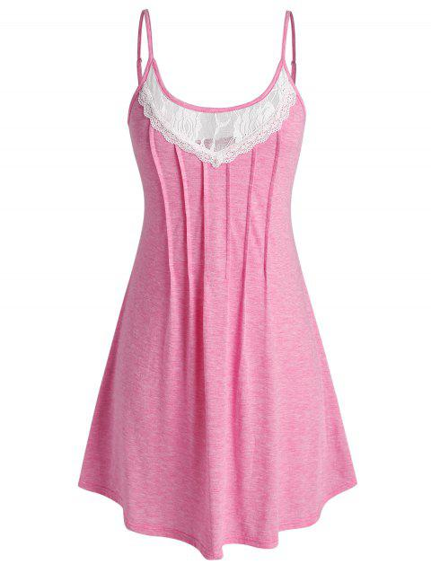 Plus Size Floral Lace Insert Cami Nightdress