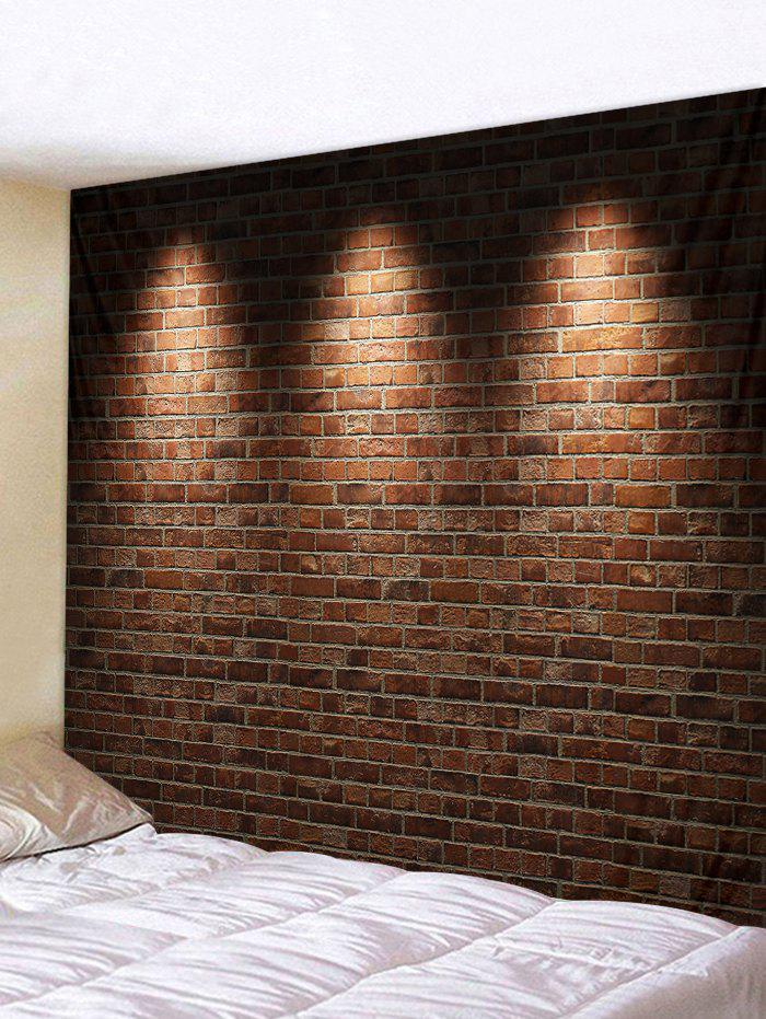 Retro Brick Wall 3D Print Wall Tapestry - RED DIRT W91 X L71 INCH
