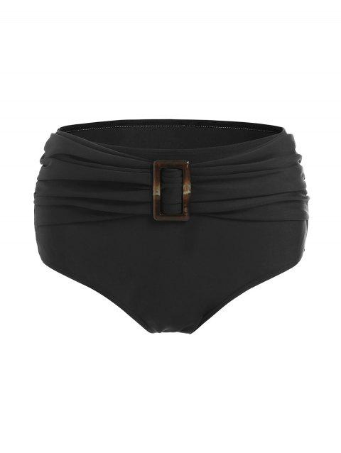 Rectangle Buckle Ruched Swim Briefs