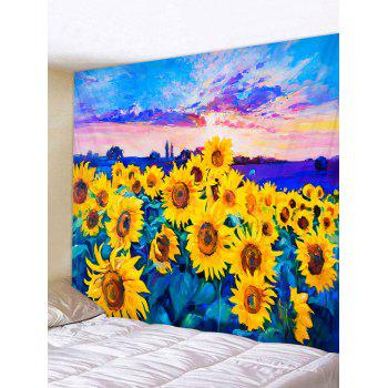 Oil Painting Sunflower Pattern Wall Tapestry
