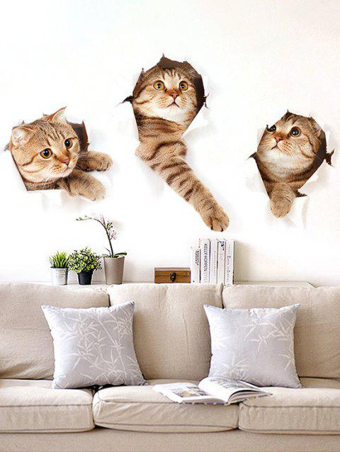 3D Effect Lovely Cat Wall Stickers