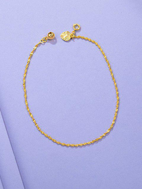 Twist Chain Bell Waterdrop Charm Anklet