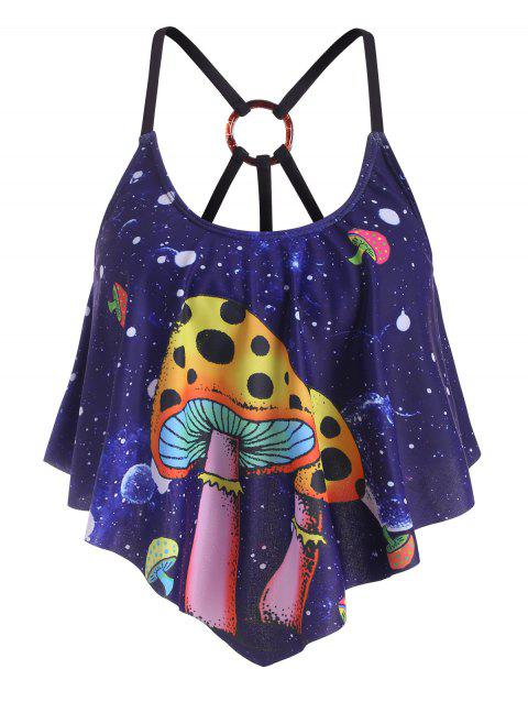 Flounces Strappy Mushroom Planet O-ring Swim Top
