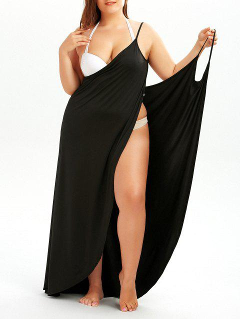 Plus Size Convertible Wrap Beach Cover Up Dress