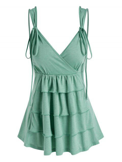 Strappy Layered Surplice Tank Top