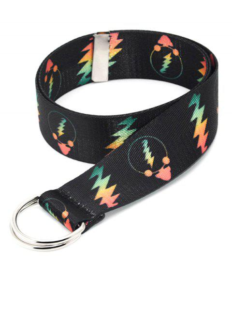 Canvas Double Ring Printed Lightning Belt