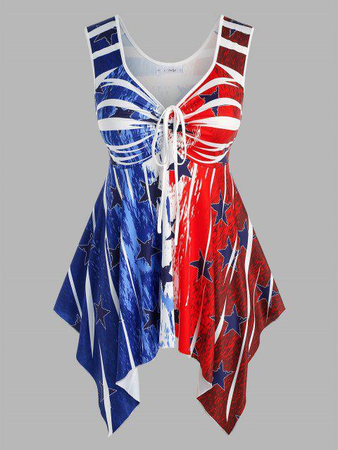 Plus Size Star Printed Handkerchief Tank Top