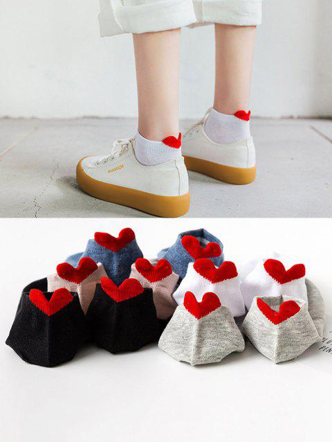 5 Pair Heart Anti-Chafe Cotton Ankle Socks Set