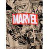 Marvel Spider-Man Comics Print Kangaroo Pocket Hoodie - TAN S