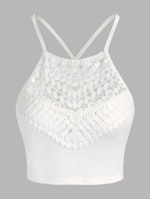 Lace Insert Cropped Cami Top