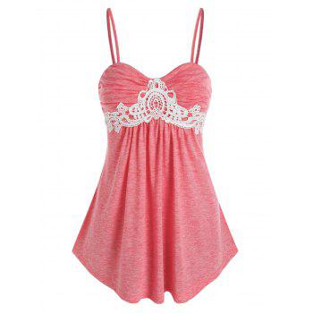 Lace Insert Heathered Cami Top