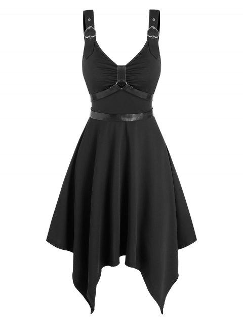 Heart Ring Buckle Straps Gothic Style Dress