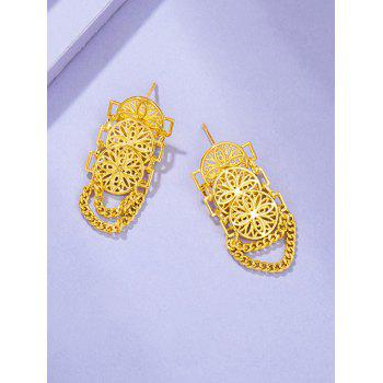 Hollow Chains Gold Plated Earrings