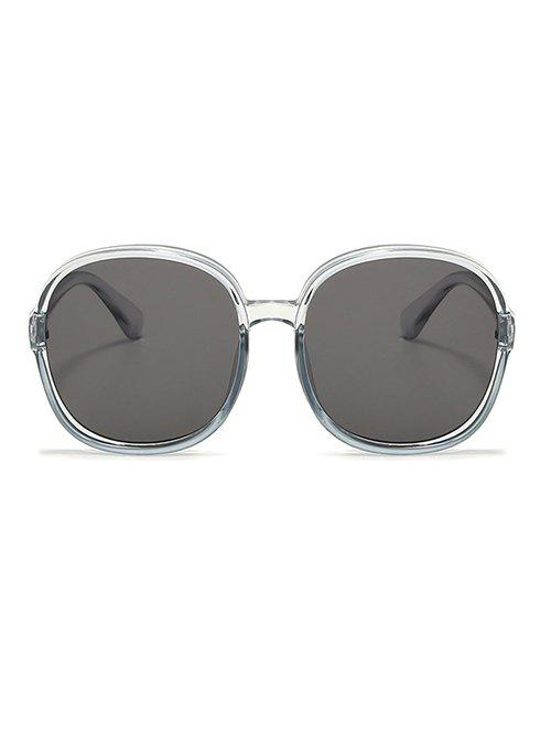 Round Frame Oversize Sunglasses - LIGHT GRAY