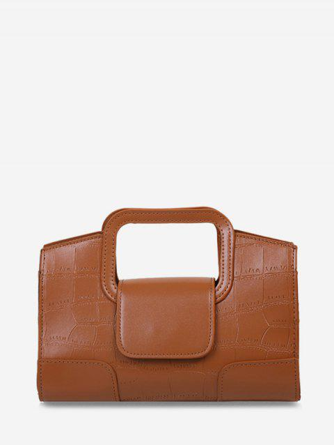 Embossed Cut Out Chain Crossbody Bag