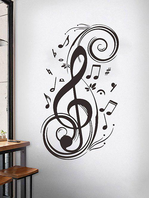 Musical Notes Wall Stickers Set - BLACK 45X70CM