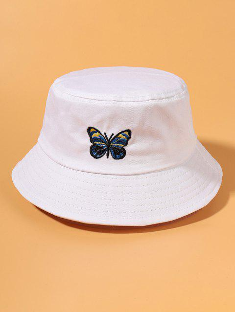 Butterfly Embroidery Outdoor Bucket Hat