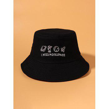 Planet Spaceman Embroidery Bucket Hat