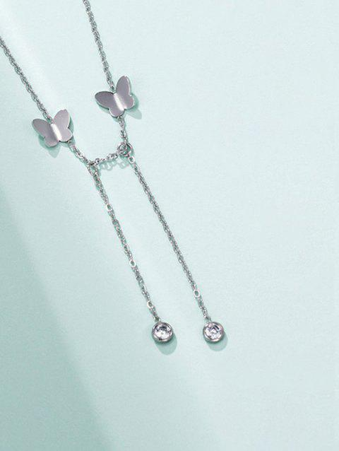 Butterfly Dangle Chain Necklace