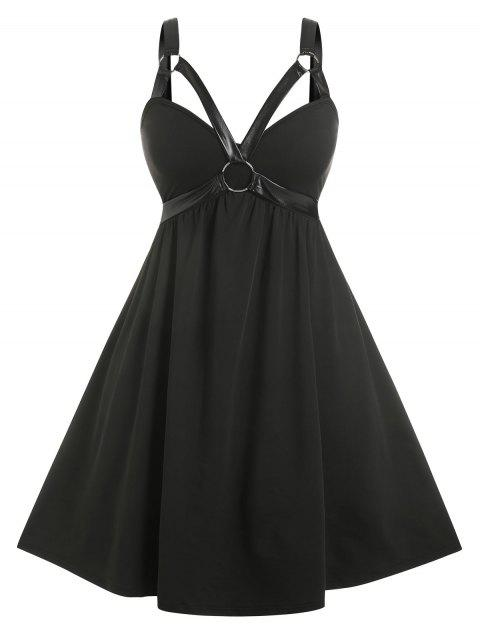 Plus Size Harness O Ring Gothic Dress