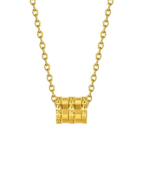 Small Waist Plated Gold Necklace - GOLDEN